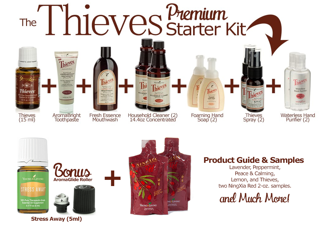 The Thieves Premium Starter Kit is the perfect way to become introduced to Young Living products to help switch to a chemical free home. I love Stephanie Wolfe, distributor 2515559!