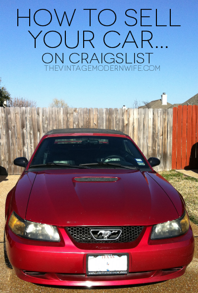Married Life Rite of Passage: Selling A Car - The Vintage ...