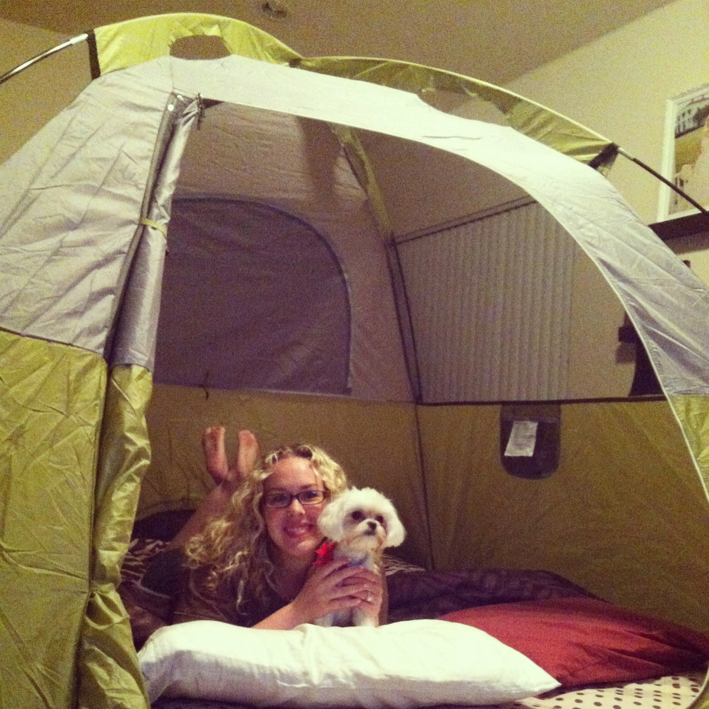 Our camping date night at home the vintage modern wife for Modern housewife
