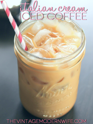 The Vintage Modern Wife is teaming up with Seattle's Best Coffee to bring you Italian Cream Iced Coffee! Perfect for hot summer mornings or a refreshing snack!