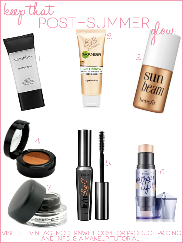 Keep That Post-Summer Glow With These Makeup Must Haves
