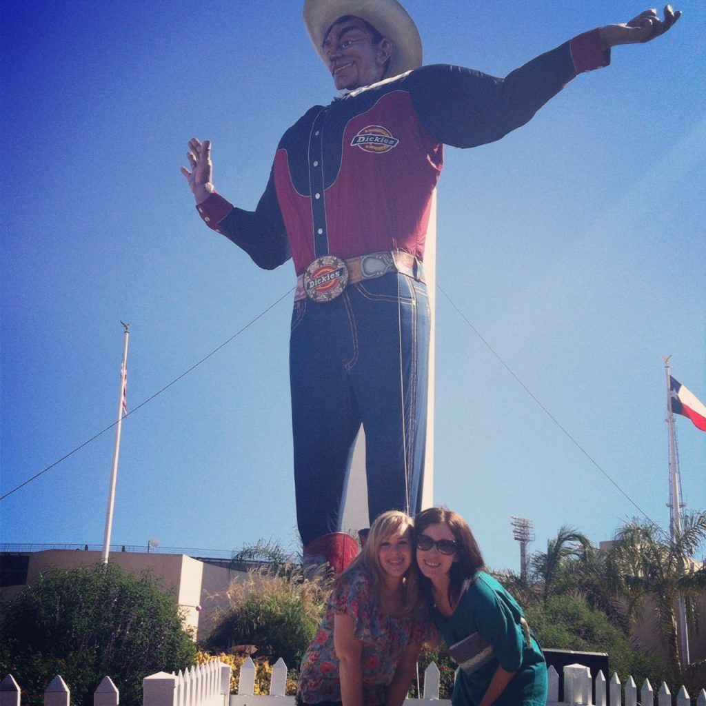 Neely and I at the Texas State Fair with Big Tex the week before he burned down