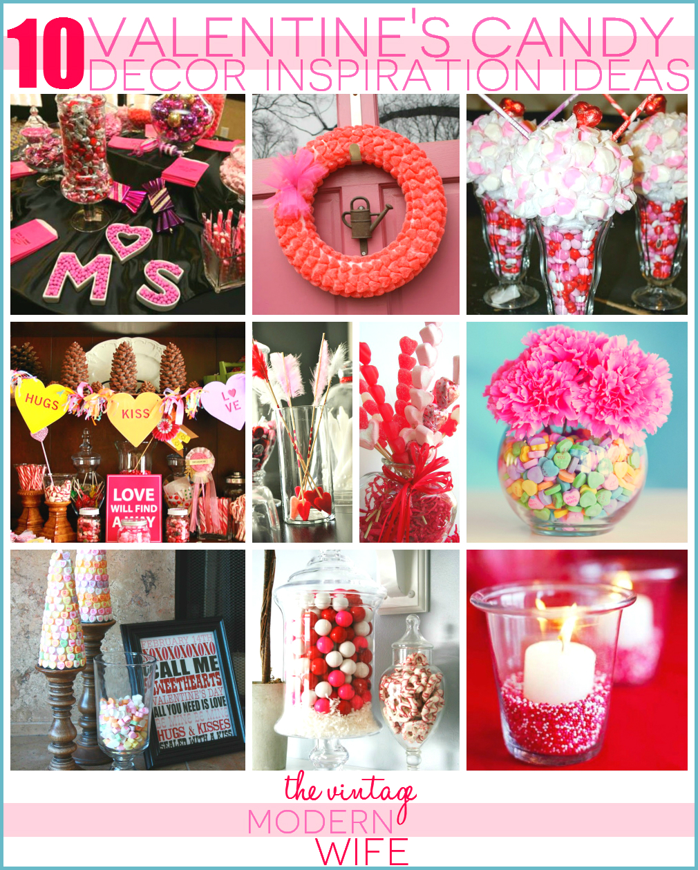 I'm absolutely loving all these Valentine's candy inspiration ideas from The Vintage Modern Wife! Definitely pinning this for Valentine's this year!