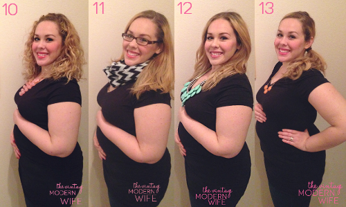 ... weeks pregnant to 13 weeks pregnant. I can't wait to see all the way