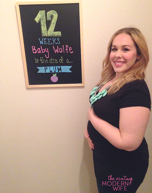 Baby Bump Monday: 12 weeks - The Vintage Modern Wife