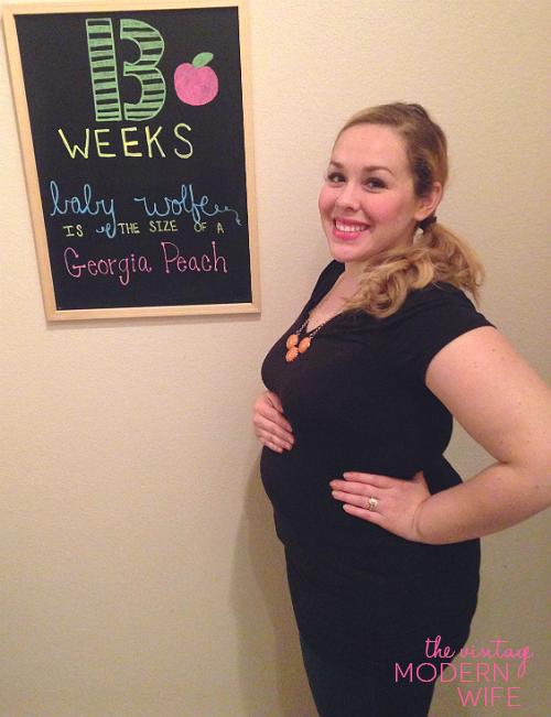 Baby Bump Monday: 13 Week Pregnancy Chalkboard