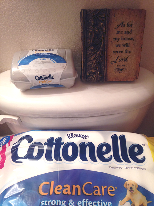 Want to feel cleaner and fresher? Who doesn't?! Read up to learn how on The Vintage Modern Wife #LetsTalkBums #Cottonelle #sp