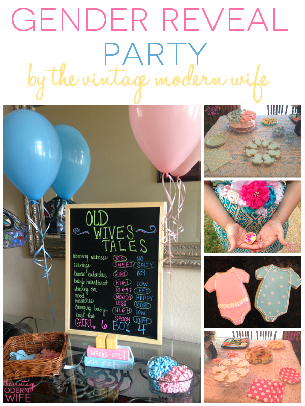 This gender reveal party is unlike any other with such special touches by The Vintage Modern Wife! With so many ideas, you'll want to pin them all.