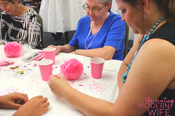 Baby Bingo and Scratch Off the Bottle games were a huge hit at this pink baby shower. These baby shower games are easy and fun!