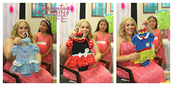 Love this Disney set of onesies from the Vintage Modern Wife baby shower
