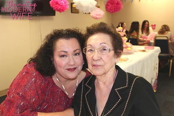 Grandma and Aunt Nelda at the baby shower