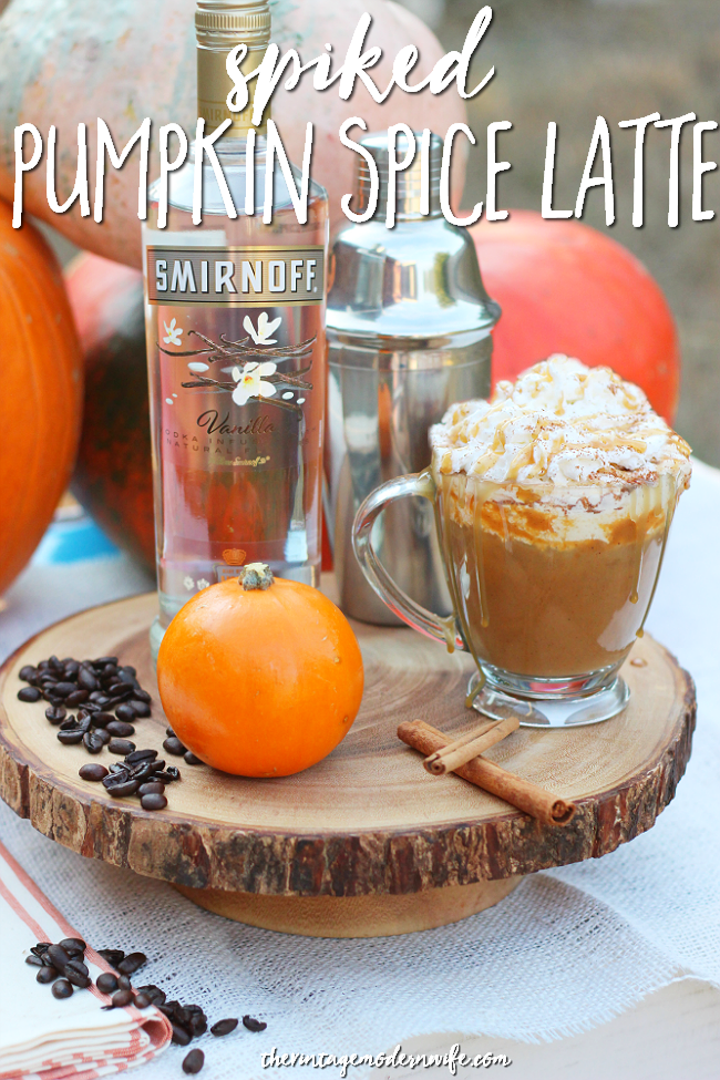 I'm obsessed with this Spiked Pumpkin Spice Latte from The Vintage Modern Wife. I can't stop drinking it!