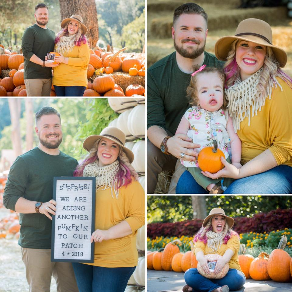 This Fall pregnancy announcement photo shoot is just adorable! Check it out at The Vintage Modern Wife