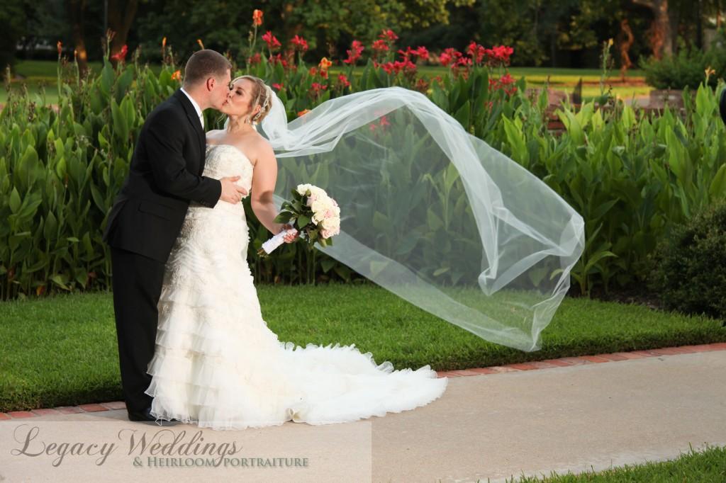 Stephanie & Mathew veil