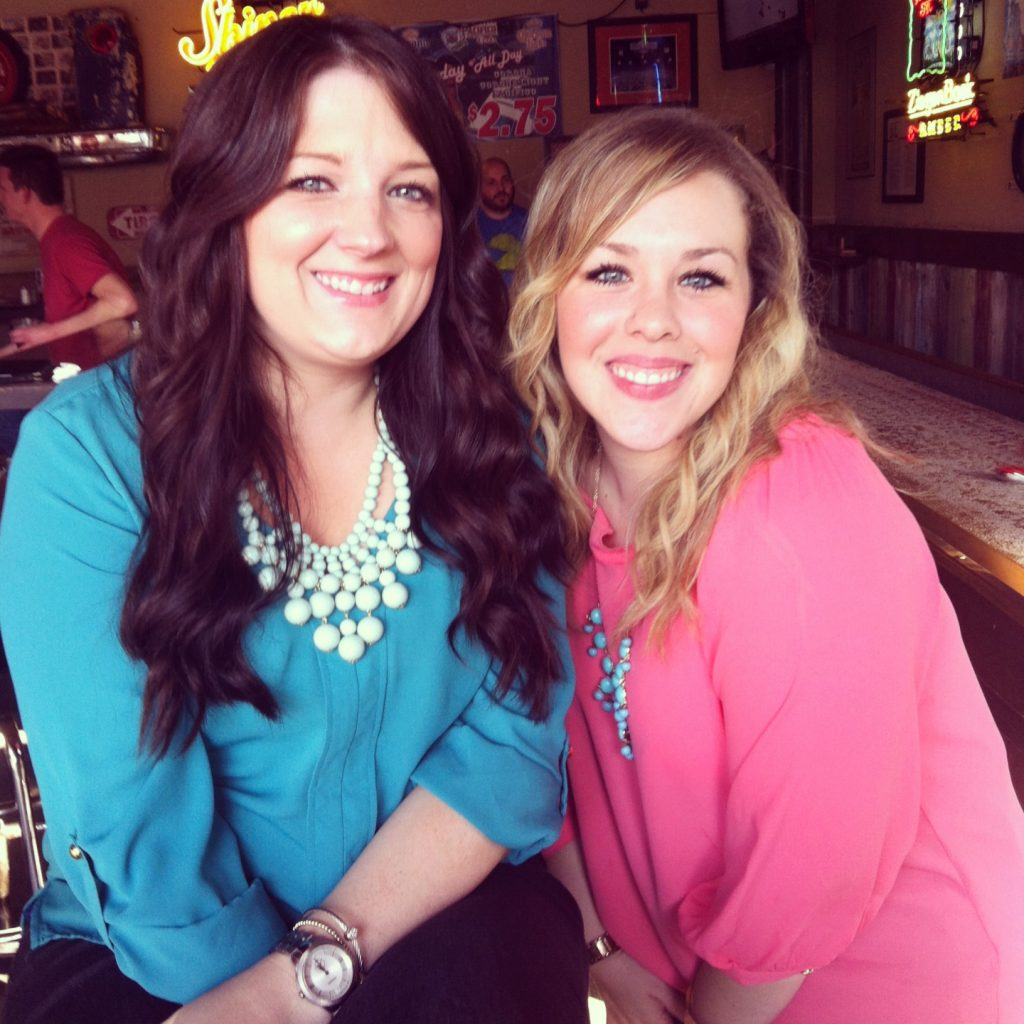 Turquoise and Coral tops from Perfectly Jenn & The Vintage Modern Wife