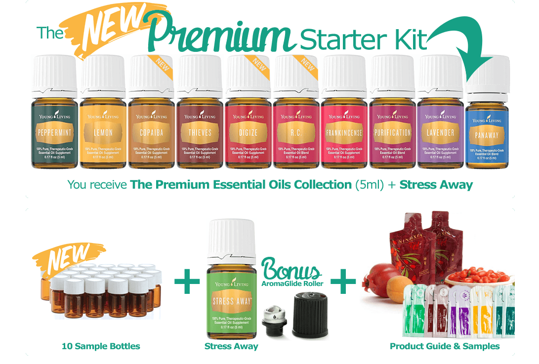 The new Young Living Essential OIl Premium Starter Kit is the perfect way to become introduced to essential oils. I love Stephanie Wolfe, distributor 2515559!