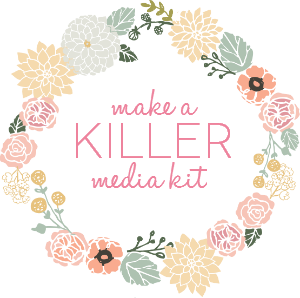5 ways to help you put your best foot forward for a #blog conference: #3- Make a killer media kit