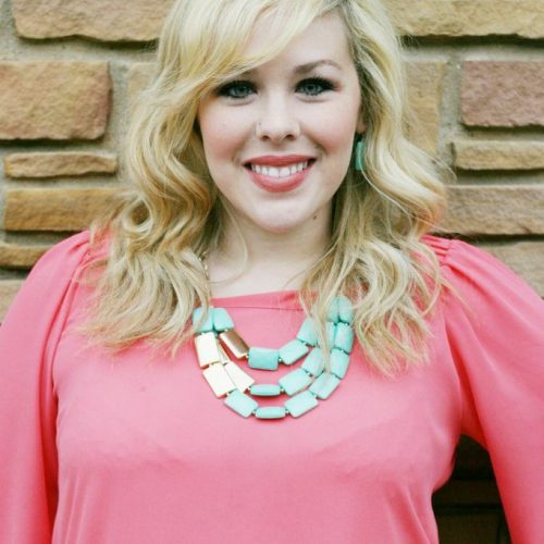 The Vintage Modern Wife coral top by Sarah Lake