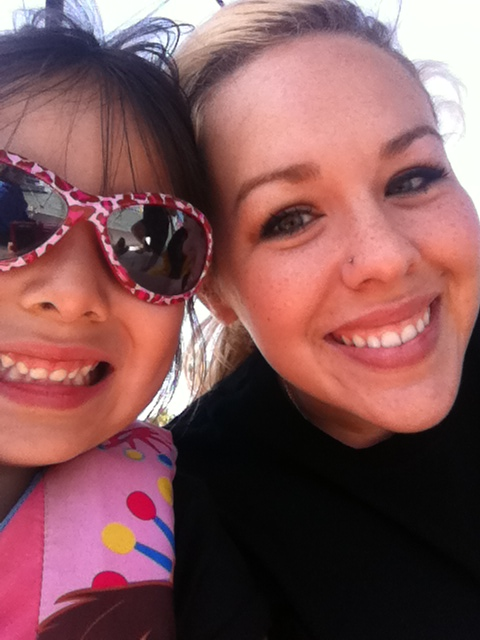 My niece Lexi and I sailing