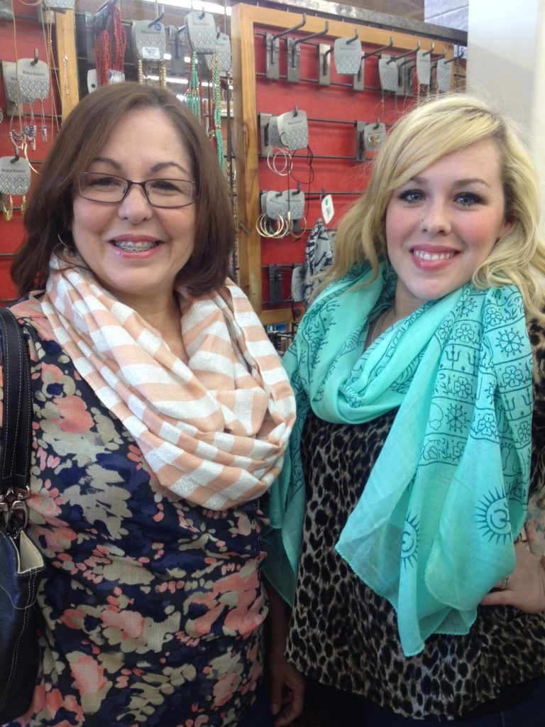 Mom and I found some scarves!