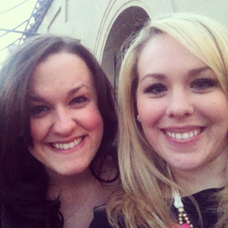 Amber and I waiting for valet