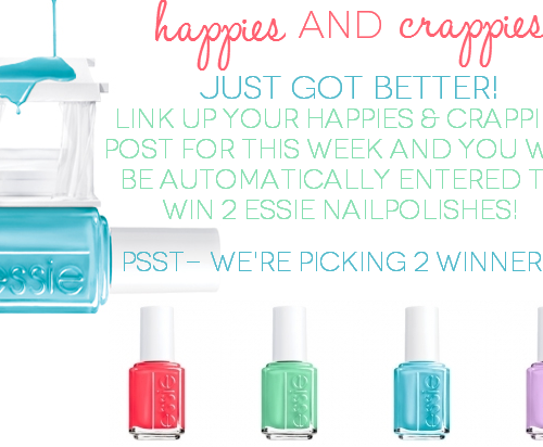 Happies & Crappies #20 Essie giveaway! Come link up and enter to win!