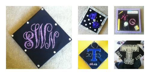 monogram graduation cap