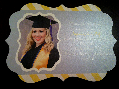 Custom graduation announcement by Olive Lane