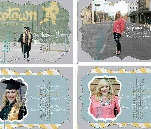 Custom graduation announcements by olivelaneshop.com
