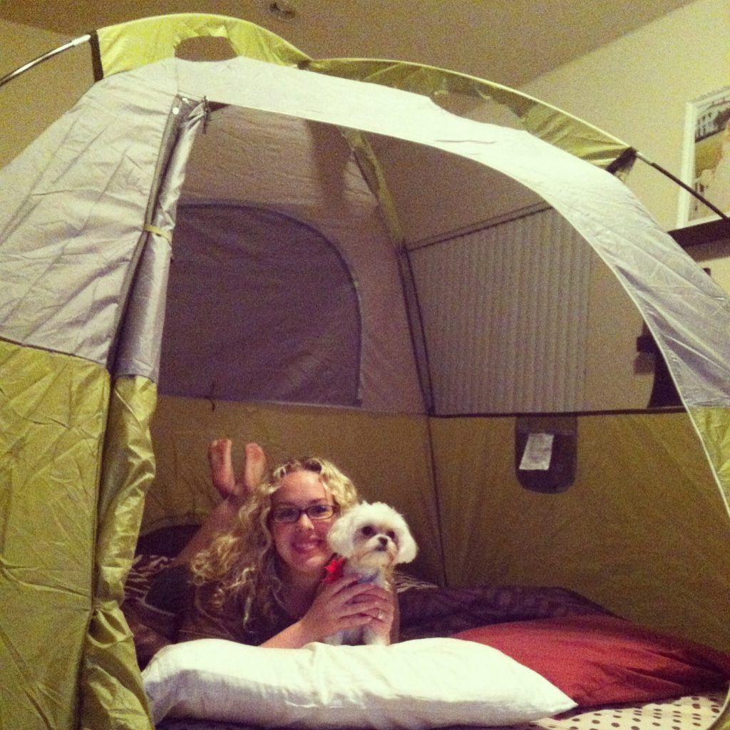 Couchsurfing More Than Just A Free Bed For The Night: Our Camping Date Night (at Home!)