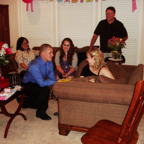 Mathew proposing