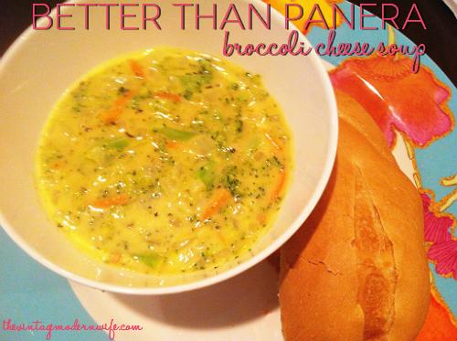 I'm LOVING this Better Than Panera Broccoli Cheese Soup! It really IS better than Panera's!