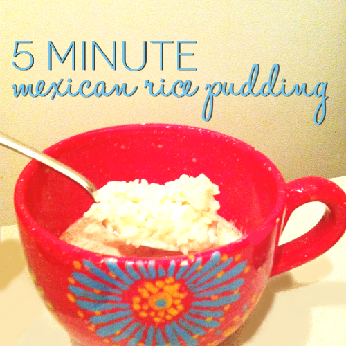 I'm loving this recipe for creamy, Mexican Rice Pudding! Thankfully this recipe is quick for my busy mornings!