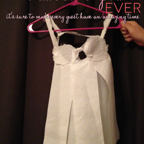 Tired of the same old boring games played at bridal showers? Try this hilarious game by The Vintage Modern Wife! It's the Best Bridal Shower Game Ever: Toilet Paper Lingerie!