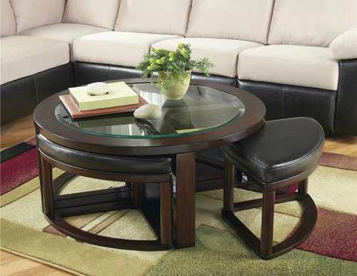 Round Table With Ottomans From Ashley Home Furniture