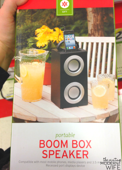 This Portable Boom Box Speaker from Target is a great wedding gift find! Perfect for the couple that loves to party by the pool! Love this barware set from Target! Perfect for a wedding gift! #beyourselftogether #Targetwedding
