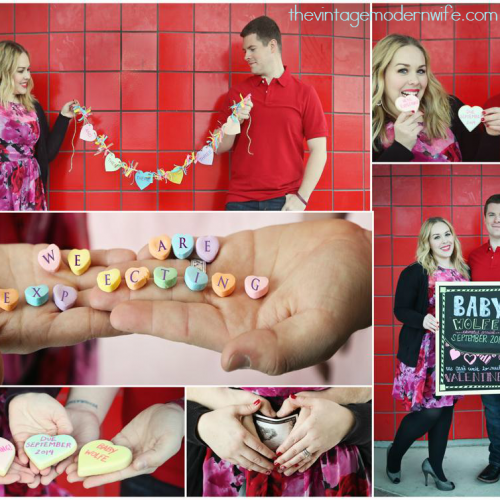 Absolutely LOVE this Valentine's pregnancy announcement of The Vintage Modern Wife. Photography by Legacy Imaging in Waco, Texas.