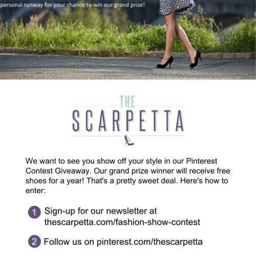 Want to win free designer shoes for a year? It's no gimmick- enter this giveaway from TheScarpetta.com!