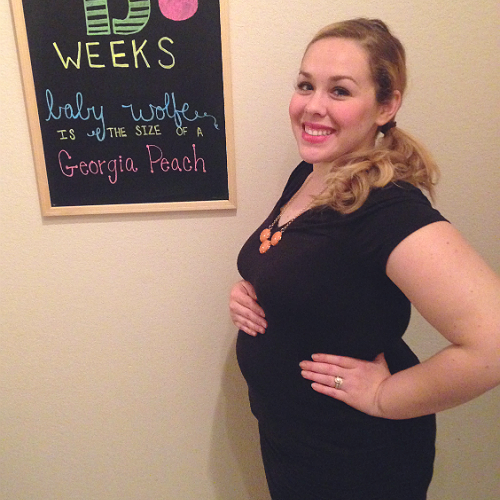 Baby bump chalkboard by The Vintage Modern Wife inspired by Little Baby Garvin. 13 weeks pregnant!