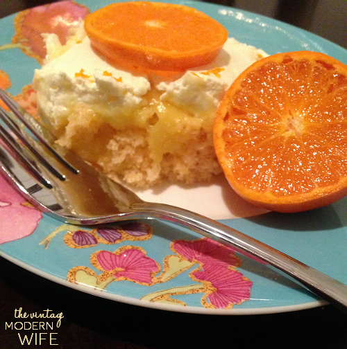 Love how easy this Sunkist TEN Orange Creamsicle Poke Cake is! Not many ingredients and not many calories!