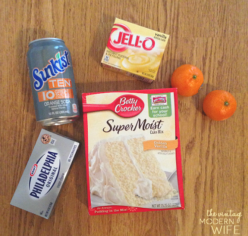 Love how easy this Sunkist TEN Creamsicle Poke Cake is! Not many ingredients and not many calories!