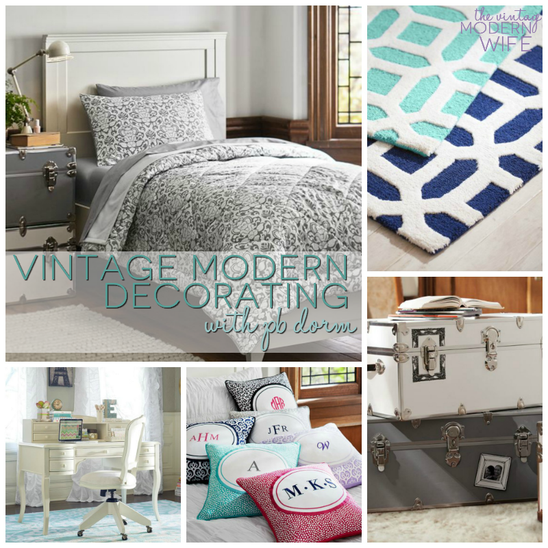 Love this vintage modern dorm room style decorating from #PBDorm!