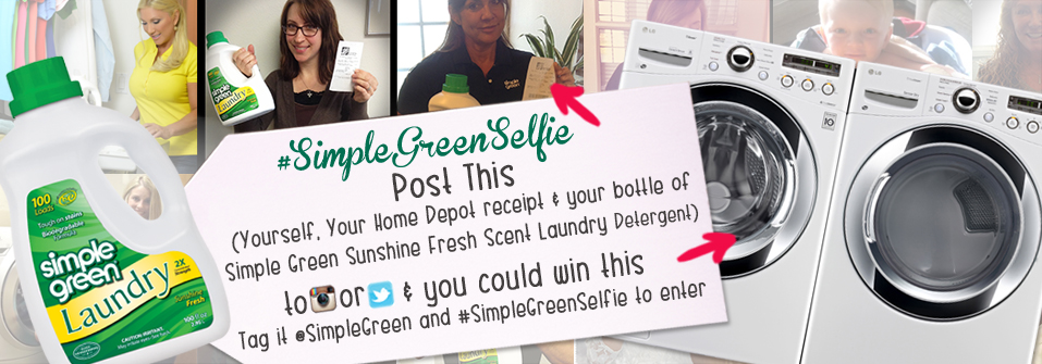 Enter the #simplegreenselfie contest for your change to win a new washer and dryer from LG!