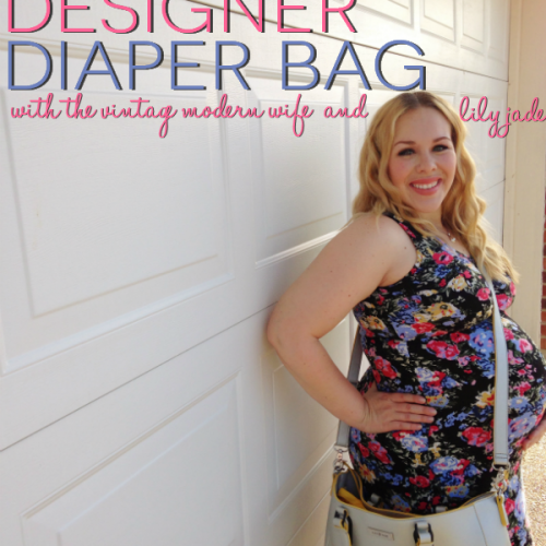This double duty designer diaper bag from Lily Jade is exactly what I'm looking for! Love all the features she talks about!