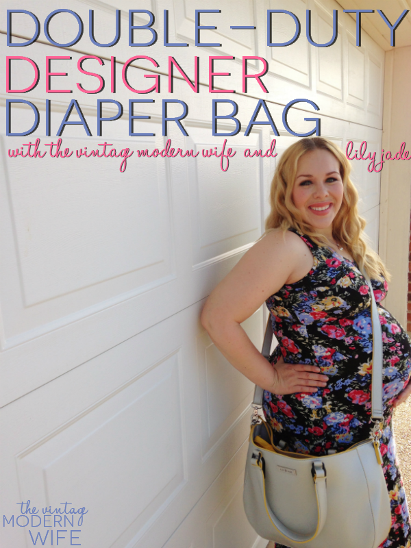 This double duty designer diaper bag from Lily Jade is exactly what I'm looking for! Love all the features she talks about! #lilyjademommyhood #lilyjadestyle