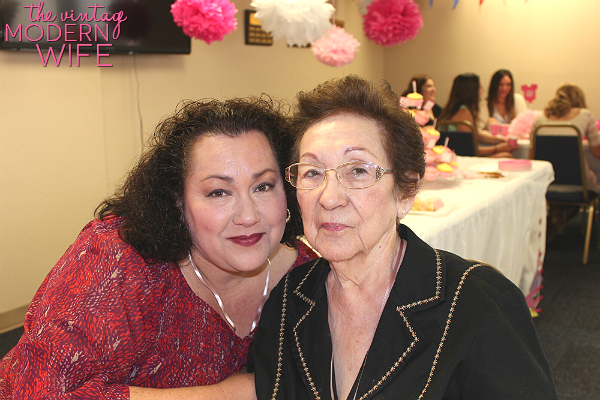 Grandma and Aunt Nelda at the baby shower