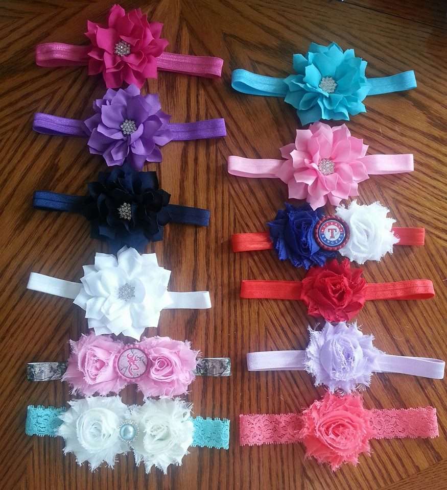 Love these baby headbands from Jen's Chic Boutique!