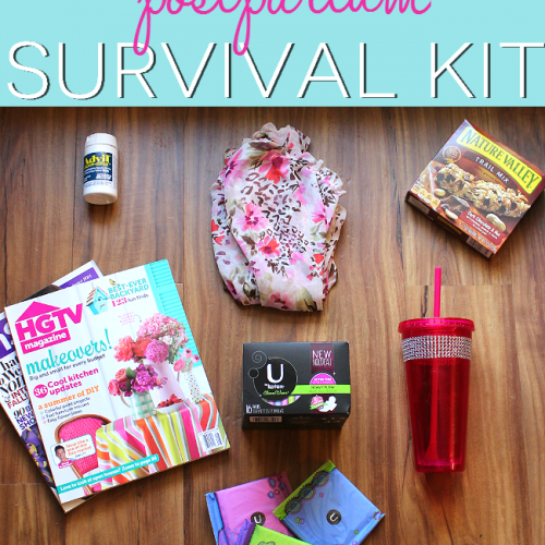 A postpartum survival kit is an essential for every mom. Make one for yourself or gift one to a friend! This blogger has great ideas! #savetheundies