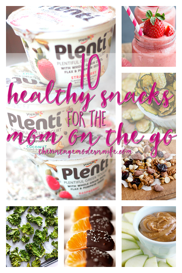 Looking for Healthy Snack Ideas for the Mom On The Go? This post on The VMW has some delicious and unique ideas! Bye, bye, boring!