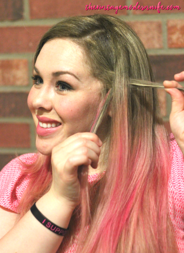 I absolutely LOVE this Waterfall Braid tutorial by The Vintage Modern Wife! She breaks it down into a few steps that helped me take my hair from drab to fab in 5 minutes! Check it out for #momhairmonday!